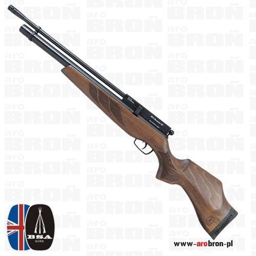 Wiatrówka pcp  buccaneer se 4,5mm - drewniane łoże z baką ambi - dla osób prawo- i leworęcznych marki Bsa