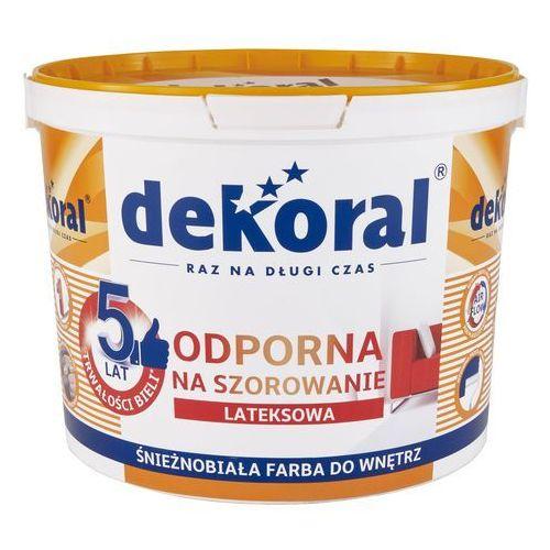 Farba do ścian i sufitów AKRYLIT W 10 l DEKORAL, kolor biały
