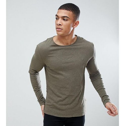 Heart & dagger muscle fit long sleeve t-shirt with embroidery - green