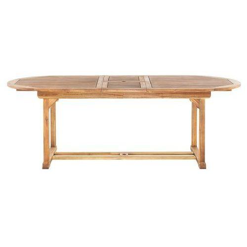 Stół ogrodowy drewniany 180/220 x 100 cm rozkładany JAVA (7081459446765)