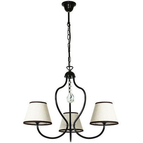 Lampa wisząca świecznikowa zwis oprawa Aldex Etna 3x40W E14 czarna 859E/1, 859E/1