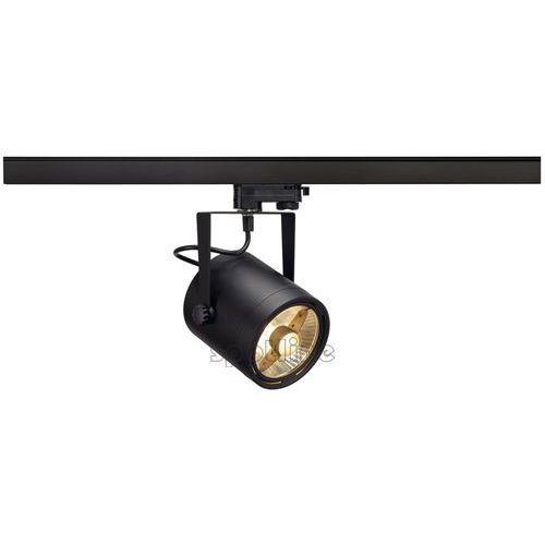 Reflektor Spotline Euro Spot 75W ES111 GU10 czarny z adapterem 3-fazowym 153420