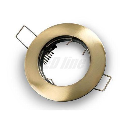 Oprawa halogenowa sufitowa okrągła stała, odlew stopu aliminium - patyna marki Led line