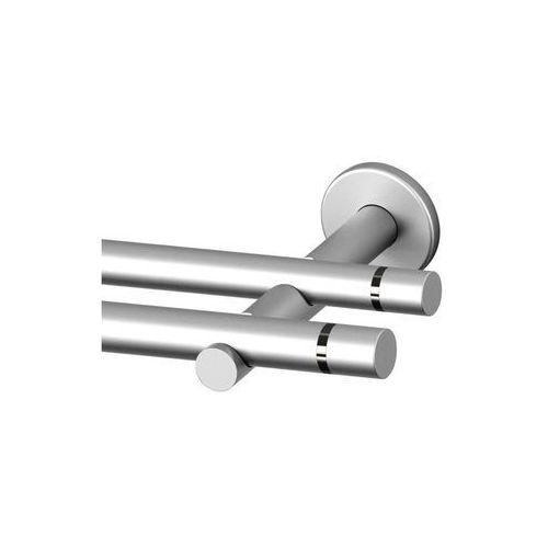Karnisz TOKYO 240 cm podwójny satyna 19 mm metalowy (5902166894958)