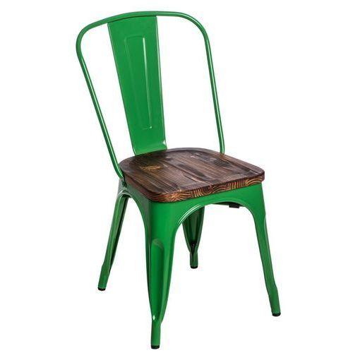 D2.design Krzesło paris wood sosna - zielony (5902385709330)