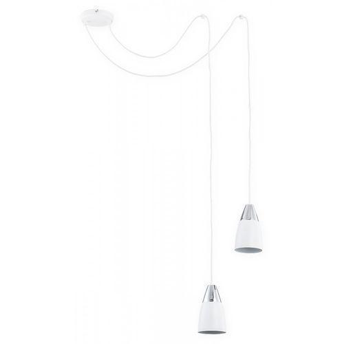 Lemir Kala O2662 W2 BIA lampa wisząca zwis pająk 2x60W E27 biały mat / chrom, kolor Biały