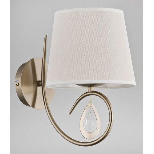Kinkiet Alfa Izyda 22050 lampa ścienna 1x40W E14 biała, złota patyna