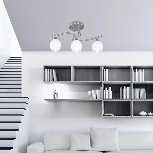 6056 lampa sufitowa nikiel matowy, chrom, 3-punktowe - nowoczesny/design - obszar wewnętrzny - curva - czas dostawy: od 2-3 tygodni marki Trio