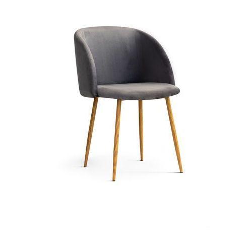 """Krzesło """"MIKA"""" ciemno szare, kolor szary"""