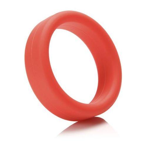 Mocno rozciągliwy pierścień miękki na penisa -  super soft c-ring czerwony marki Tantus