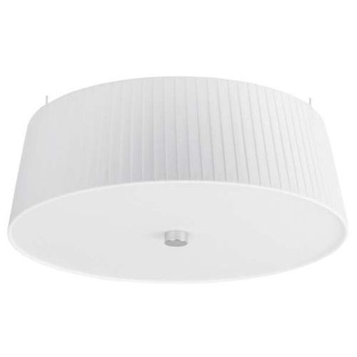 Sotto luce Lampa sufitowa kami elementary m 1/c/white abażurowa oprawa plisowana plafon okrągły biały
