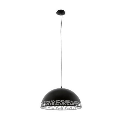 Lampa wisząca Eglo Savignano 97442 530 mm oprawa sufitowa 1x60W E27 czarny/biały, 97442