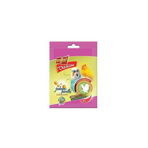 Vitapol Vitaline jodowe perełki dla papużki falistej 20x20g