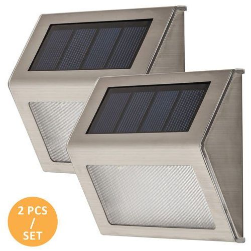 Kinkiet Rabalux Santiago 8784 lampa zewnętrzna 2x0,12W LED IP44 srebrny