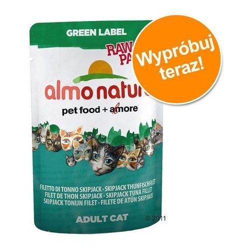 green label raw filety z kurczaka i kaczki - saszetka 55g marki Almo nature