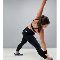Asos 4505 curve gym legging with mesh panel detail - black