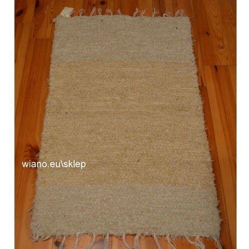 Chodnik bawełniany ręcznie tkany kremowy 50x80 cm