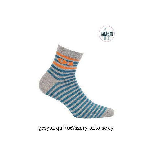 Skarpety Wola Be Activ W94.1S0 Tata & Syn 45-47, szaro-turkusowy/greyturqu, Wola, kolor niebieski