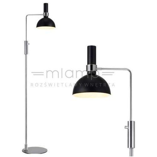 Markslojd Podłogowa lampa stojąca larry 106857 metalowa oprawa kopuła czarna