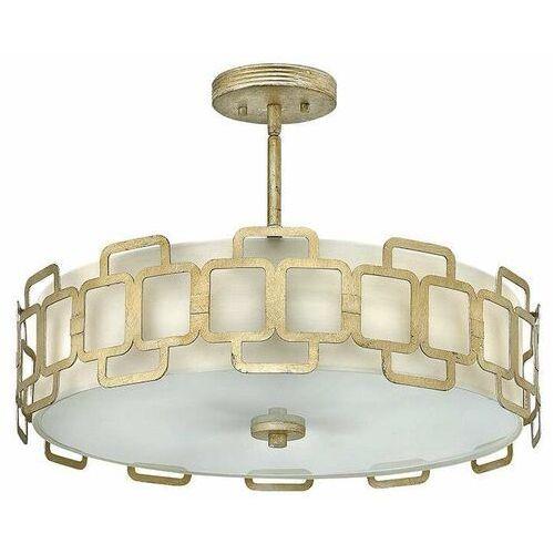 LAMPA sufitowa HK/SABINA/4P Elstead HINKLEY metalowa OPRAWA okrągły plafon industrialny złoto srebrny biały