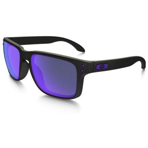Oakley Okulary holbrook julian wilson series matte black/violet iridium oo9102-26
