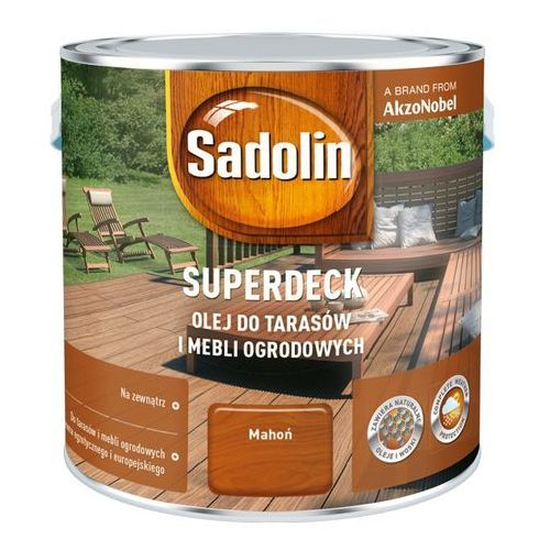 Sadolin Olej do drewna superdeck mahoń 2,5 l (5903525779121)