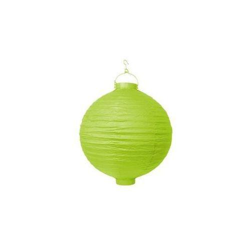 Party deco Świecący ogrodowy lampion papierowy 20 cm, zielony, 1 szt.