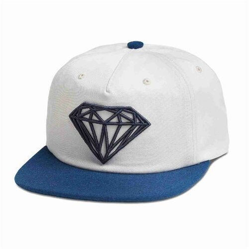 Czapka z daszkiem - brilliant 2-tone unstruc snapb white (wht) rozmiar: os marki Diamond