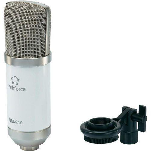 Mikrofon studyjny Renkforce BM-810 W, 100 Om, XLR z kategorii Mikrofony