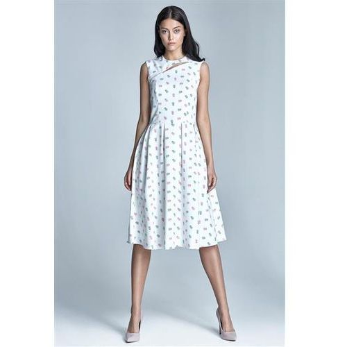 Sukienka model s73 ann ecru/pink, Nife