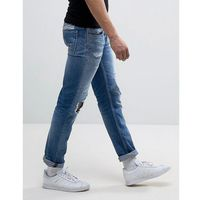Replay Grover Straight Fit Jeans Light Wash Abrasions - Blue, jeans