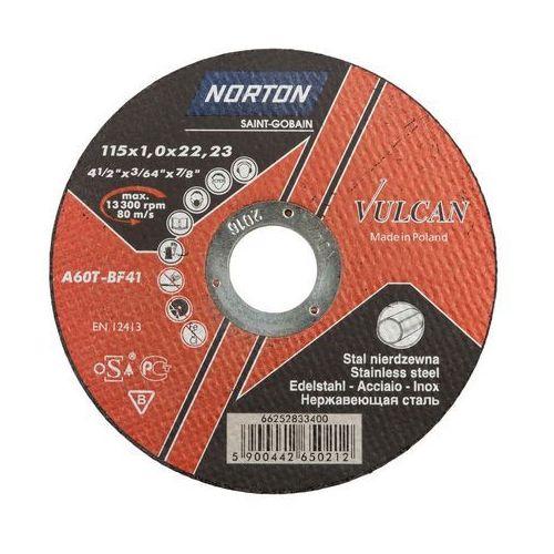 Tarcza do cięcia t41 115 x 1.0 x 22.23 inox marki Norton vulcan