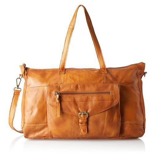 Pieces damski pcabby leather travel bag torba z uszami noos, 17 x 32 x 53 cm - brązowy - (5713618760192)