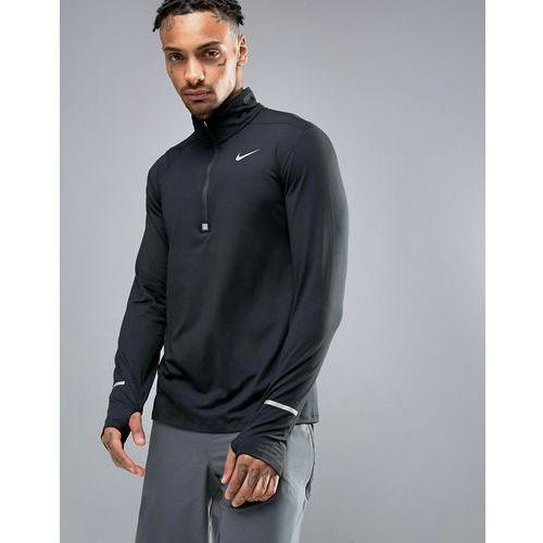 Nike running dri-fit element half-zip sweat in black 683485-010 - black
