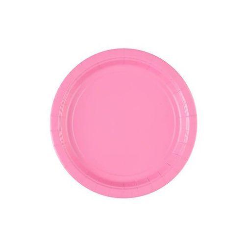 Talerzyki różowe - 18 cm - 8 szt.