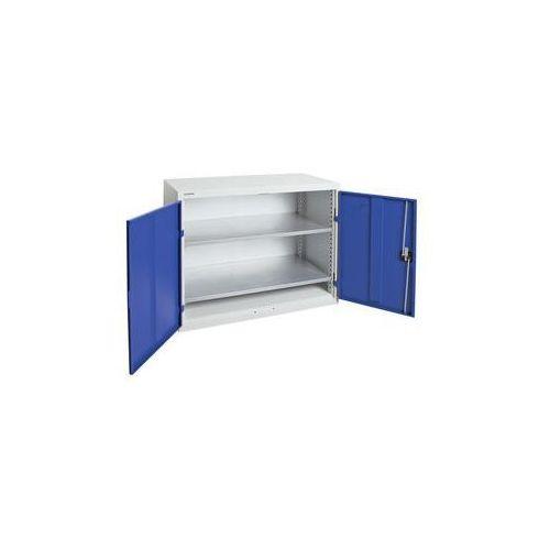 Szafka z drzwiami skrzydłowymi,z drzwiami w całości z blachy, 2 półki marki Stumpf-metall