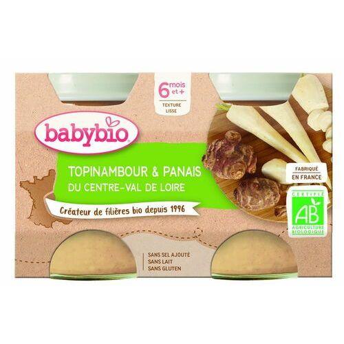 Babybio Przecier z topinamburu i pasternaku od 6 miesiąca bezglutenowe bio 2x130 g