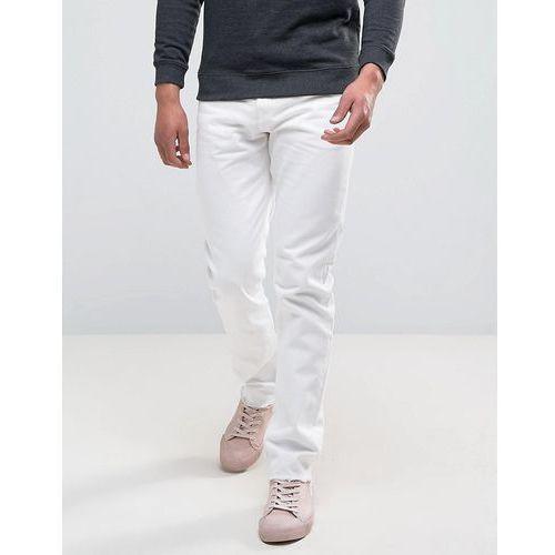 sharp skinny jeans rigid denim cut off white - white marki Weekday