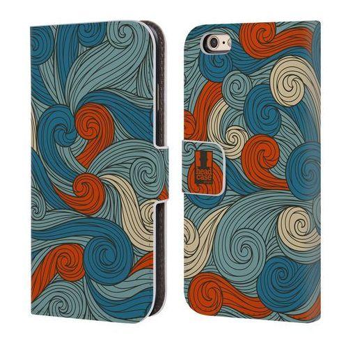 Etui portfel na telefon - Vivid Swirls Blue And Orange