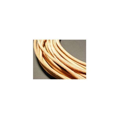 Rzemień rzemyk skóra śr.2,5 mm naturalny marki Pielegnacjaobuwia