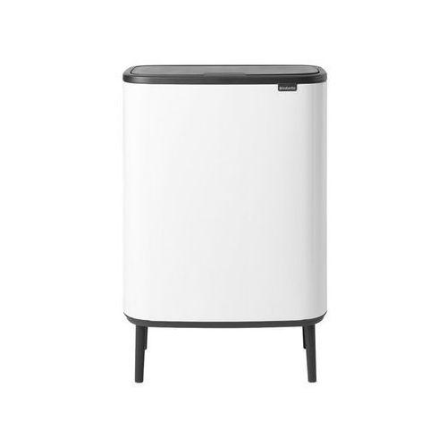Brabantia - Kosz Bo Touch Bin Hi, 2 x 30 l - biały - biały, kolor biały