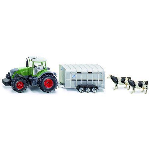 Siku Zabawka farmer traktor john deere 8430 z przyczepą do przewozu zwierząt