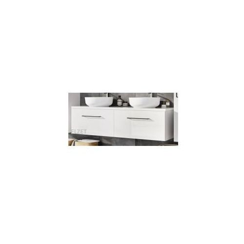 ELITA szafka Futuris white pod 2 umywalki nablatowe + blat 140 white 2x166932.167046