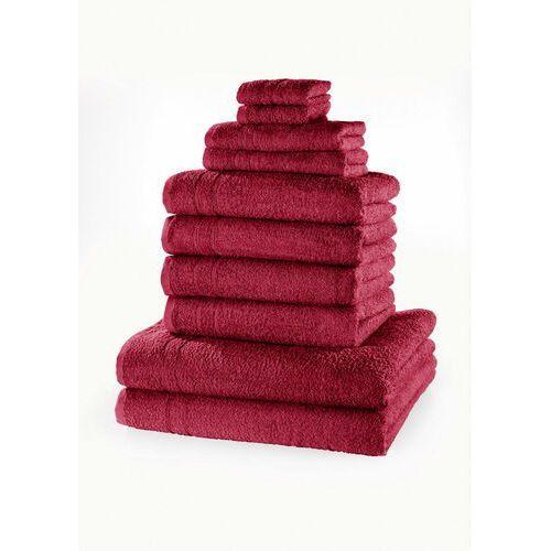 Komplet ręczników (10 części) bonprix jeżynowy