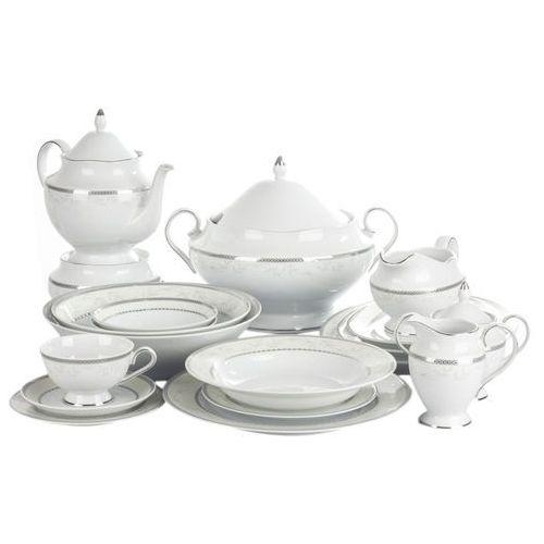CHODZIEŻ ASTRA MARZENIE PLATYNOWE Serwis obiadowy i herbaciany 85/12 B601