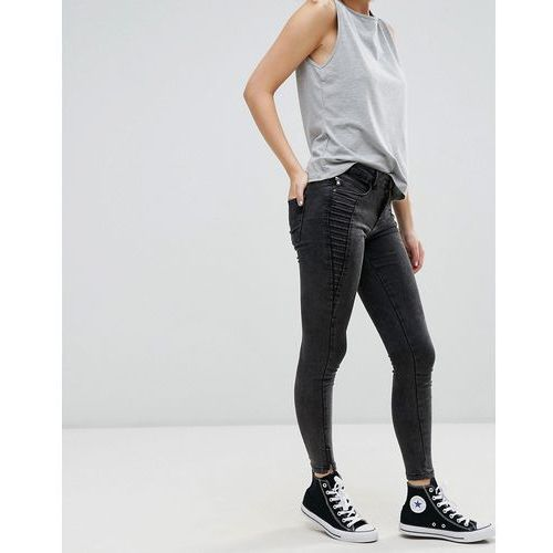 Only royal zip ankle skinny jeans - black