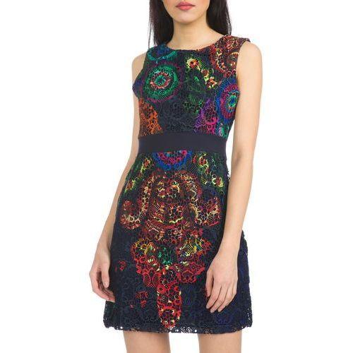 Desigual Bel Dress Niebieski Wielokolorowy 42