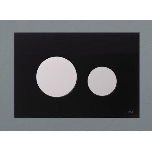 przycisk spłukujący teceloop szkło czarne, przyciski białe 9240654 marki Tece