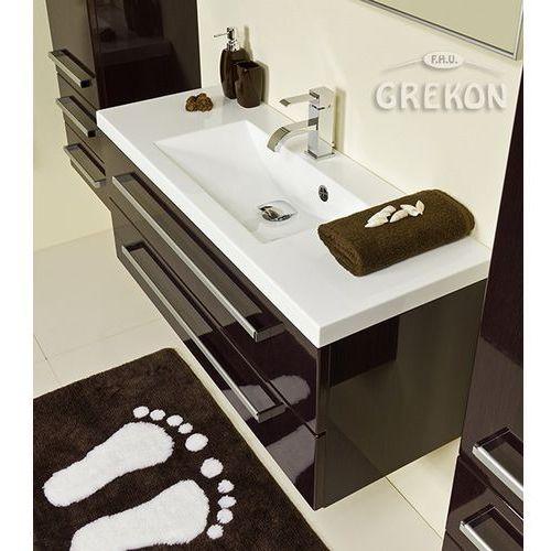 Szafka łazienkowa z umywalką 100/39/2 fokus wenge połysk marki Gante