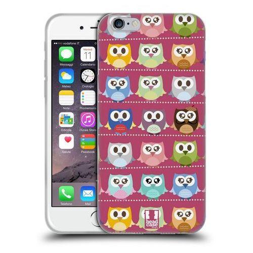 Etui silikonowe na telefon - kawaii owl pink pattern marki Head case